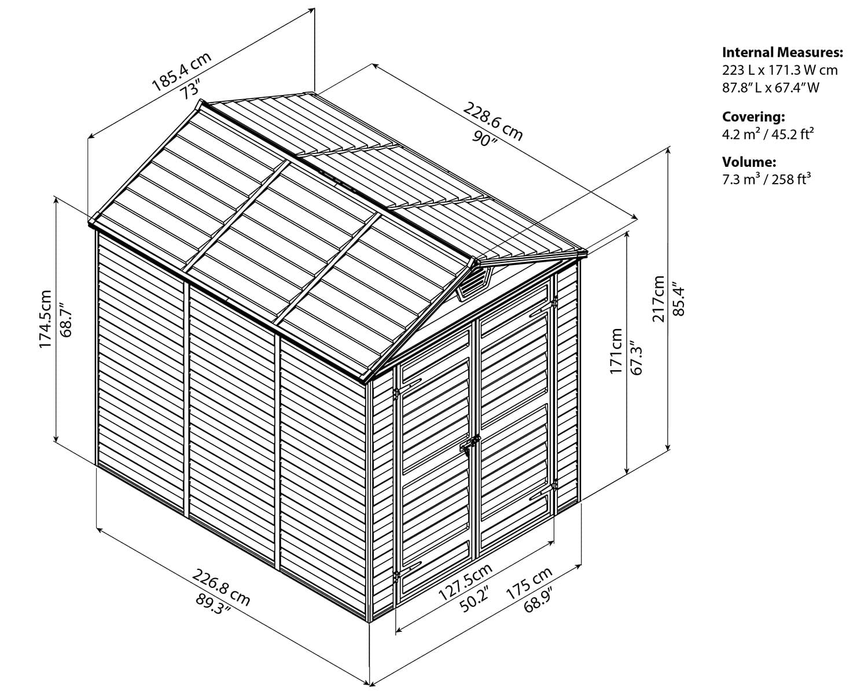 Фото 5 - Пластиковый сарай Skylight Shed 6x10.