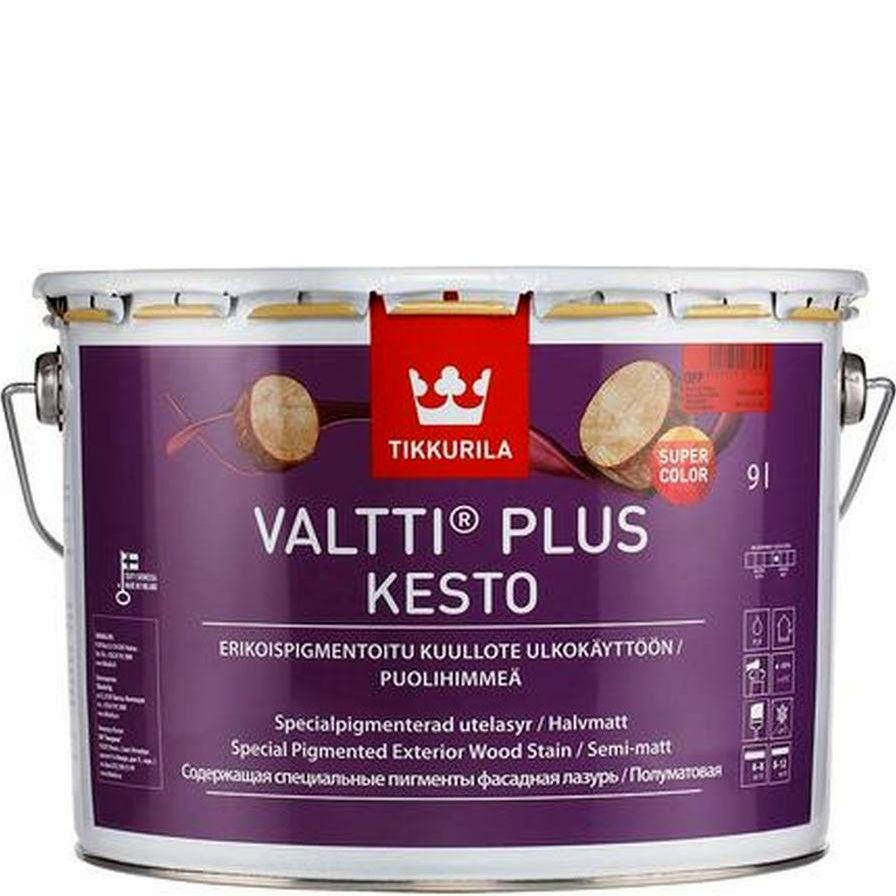 """Фото 1 - Лазурь Тиккурила """"Валтти Плюс Кесто"""" (Valtti Plus Kestol) фасадная полуматовая водоразбавляемая  (Коллеруемый) (2.7л) """"Tikkurila""""."""