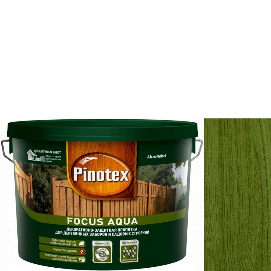 """Фото 1 - Пропитка """"Pinotex Focus Aqua"""" Зеленый лес, полуматовая для защиты древесины  (5 л) """"Пинотекс""""."""