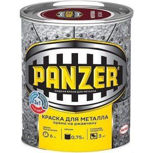 """Фото 1 - Лак-Краска Панцерь  гладкая, глянцевая, бесцветная для металла 3 в 1  (0,75 л) - """"Panzer""""."""