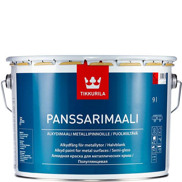 """Фото 1 - Краска Тиккурила """"Панссаримаали""""(Panssarimaali) алкидная с противокоррозионным пигментом для крыш  (База А) (2.7л) """"Tikkurila""""."""
