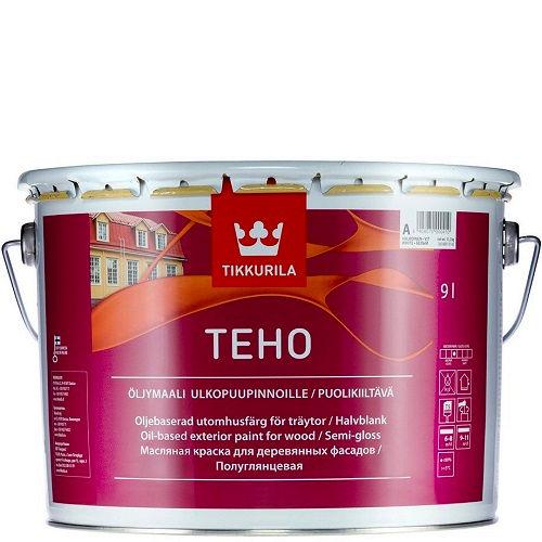 "Фото 1 - Краска Тиккурила ""Техо"" (Teho Öljymaali) масляная полуглянцевая для древесины  (База А) (2.7л) ""Tikkurila""."