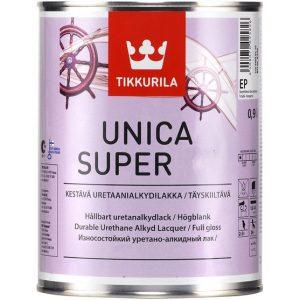 """Фото 1 - Лак Тиккурила """"Уника Супер"""" (Unica Super) Яхтный уретано-алкидный для древесины, глянцевый (Коллеруемый) (2.7л) """"Tikkurila""""."""