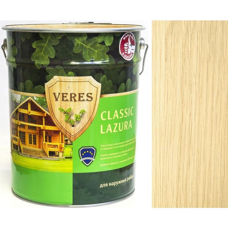 """Фото 2 - Пропитка Верес """"Классик Лазура"""" №1 Бесцветная, для древесины [Полуматовая]-[уп. 4 шт по 2,7 л] """"Veres""""."""