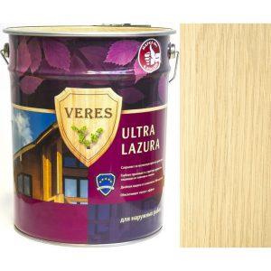 """Фото 3 - Пропитка Верес """"Ультра Лазура"""" №1 Бесцветная, для древесины [Шелковисто-глянцевая]-[уп. 4 шт по 2,7 л] """"Veres""""."""