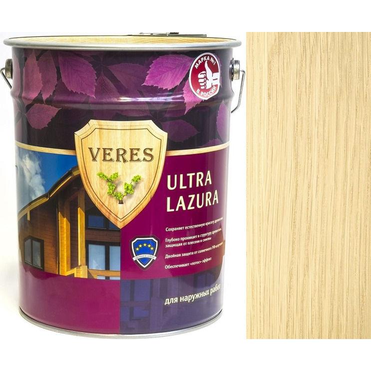 """Фото 2 - Пропитка Верес """"Ультра Лазура"""" №1 Бесцветная, для древесины [Шелковисто-глянцевая]-[9 л] """"Veres""""."""