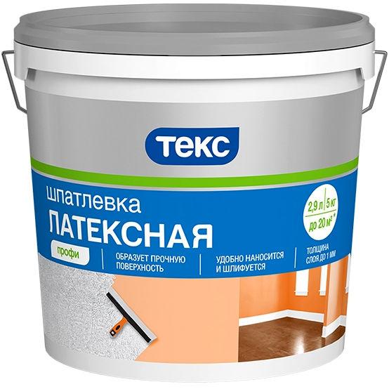 """Фото 1 - Шпатлевка Текс """"Латексная"""" для внутренних работ (16 кг) """"Teks""""."""
