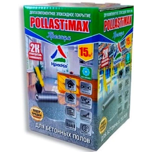 """Фото 13 - Эмаль """"Премиум POLLASTiMAX"""" эпоксидная глянцевая двухкомпонентная для бетонных полов """"Вес - 3.1кг"""" """"КрасКо""""."""