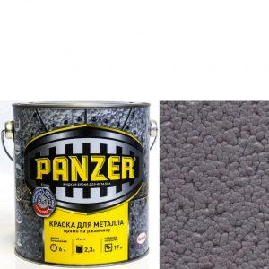 """Фото 11 - Краска Панцерь """" Серая"""" молотковая для металла 3 в 1  (0,75 л) - """"Panzer""""."""