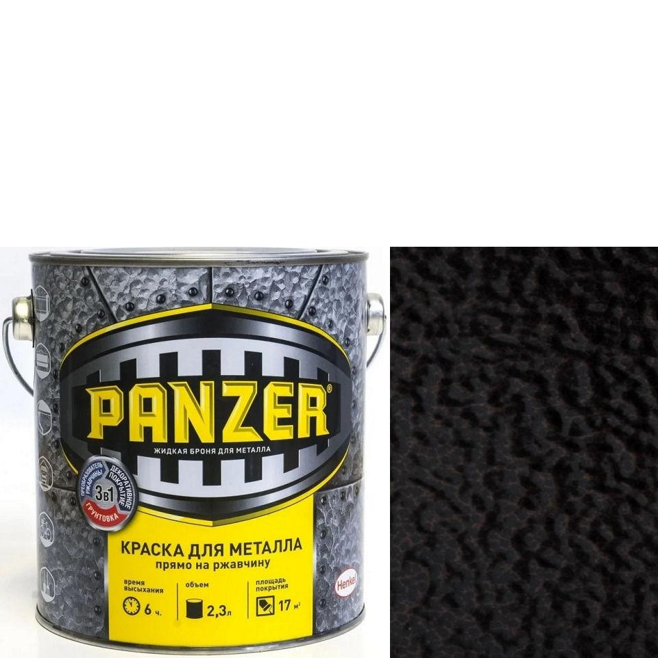 """Фото 15 - Краска Панцерь """" Черная"""" молотковая для металла 3 в 1  (0,75 л) - """"Panzer""""."""