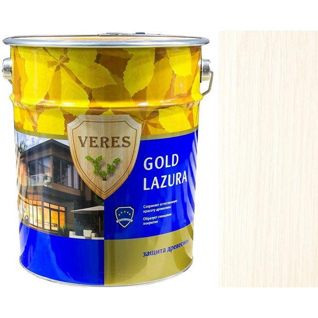 """Фото 8 - Пропитка Верес """"Голд Лазура"""" №12 Белая, для древесины [Глянцевая]-[10л] """"Veres""""."""