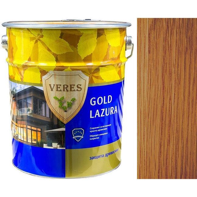 """Фото 15 - Пропитка Верес """"Голд Лазура"""" №19 Дуб, для древесины [Глянцевая]-[уп. 4 шт по 2,7 л] """"Veres""""."""