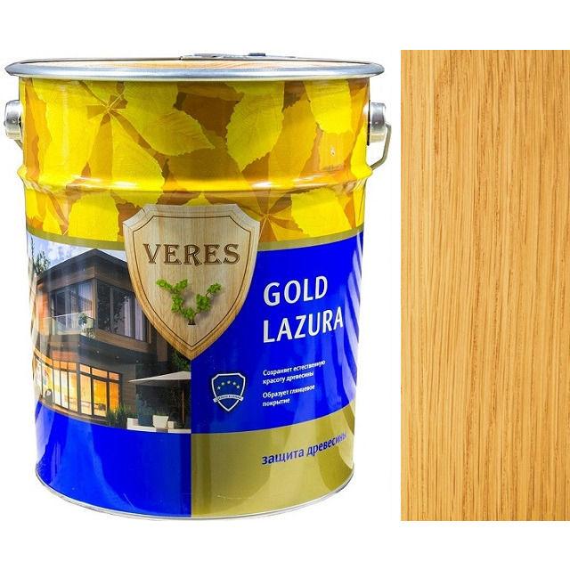 """Фото 18 - Пропитка Верес """"Голд Лазура"""" №2 Сосна, для древесины [Глянцевая]-[уп. 4 шт по 2,7 л] """"Veres""""."""