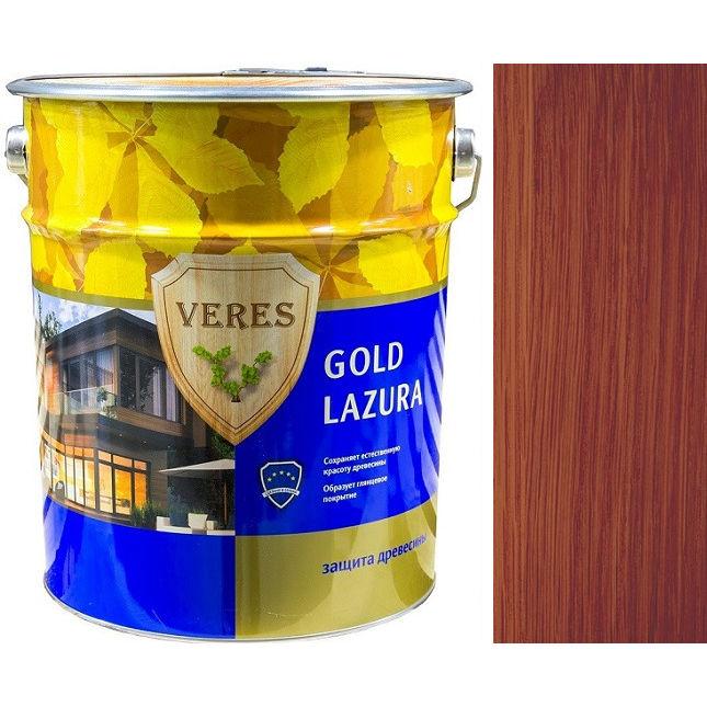 "Фото 24 - Пропитка Верес ""Голд Лазура"" №7 Махагон, для древесины [Глянцевая]-[уп. 4 шт по 2,7 л] ""Veres""."