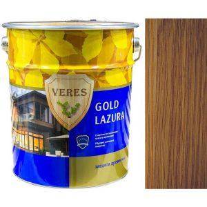 """Фото 24 - Пропитка Верес """"Голд Лазура"""" №8 Дуб темный, для древесины [Глянцевая]-[уп. 6 шт по 0,9 л ] """"Veres""""."""