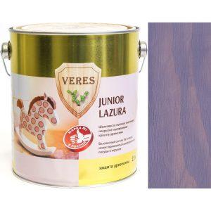 """Фото 8 - Пропитка Верес """"Джуниор Лазура"""" №16 Лавандовая, для древесины [Шелковисто-матовая]-[уп. 4 шт по 2,5 л] """"Veres""""."""