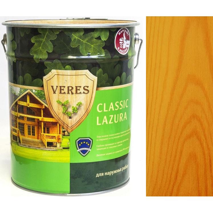 """Фото 10 - Пропитка Верес """"Классик Лазура"""" №29 Калужница, для древесины [Полуматовая]-[9 л] """"Veres""""."""