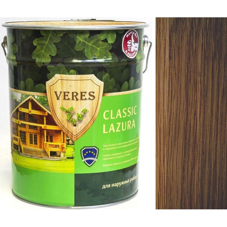 """Фото 16 - Пропитка Верес """"Классик Лазура"""" №4 Орех, для древесины [Полуматовая]-[9 л] """"Veres""""."""