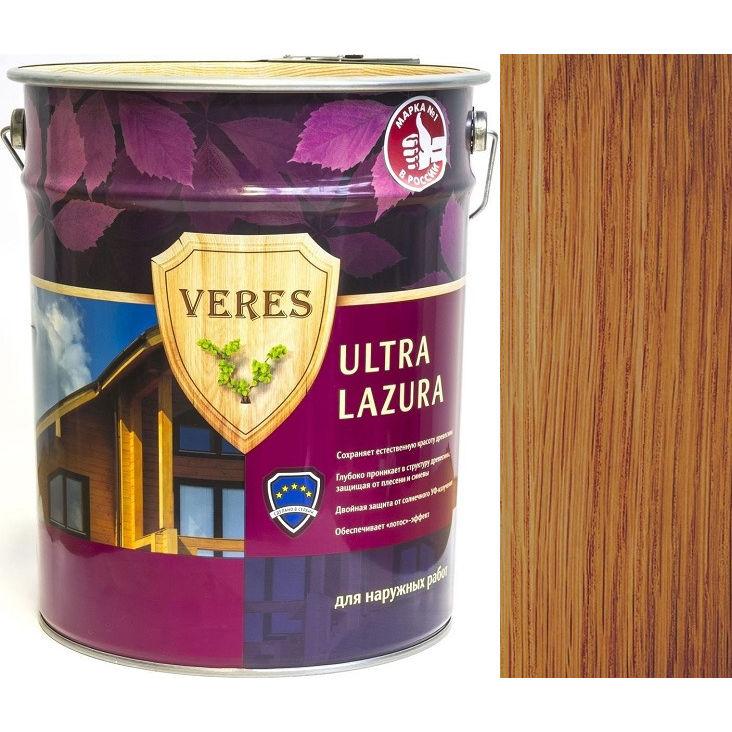 """Фото 14 - Пропитка Верес """"Ультра Лазура"""" №19 Дуб, для древесины [Шелковисто-глянцевая]-[уп. 4 шт по 2,7 л] """"Veres""""."""