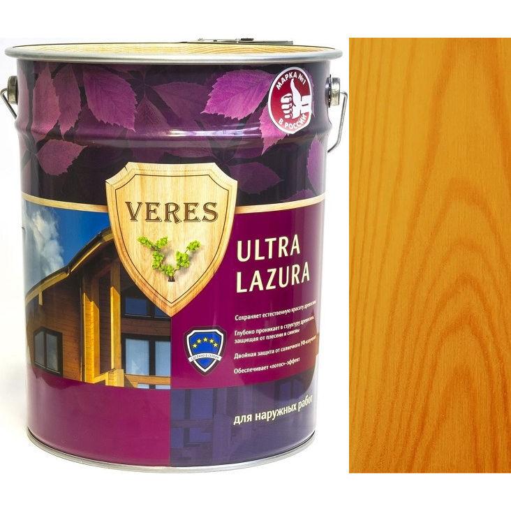 """Фото 20 - Пропитка Верес """"Ультра Лазура"""" №29 Калужница, для древесины [Шелковисто-глянцевая]-[уп. 4 шт по 2,7 л] """"Veres""""."""