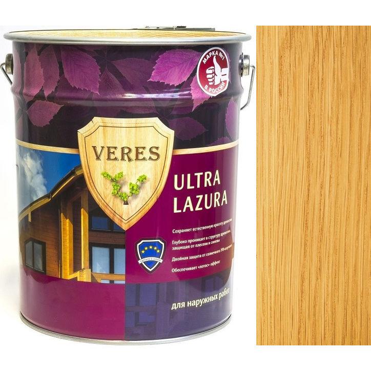 """Фото 18 - Пропитка Верес """"Ультра Лазура"""" №2 Сосна, для древесины [Шелковисто-глянцевая]-[уп. 6 шт по 0,9 л ] """"Veres""""."""
