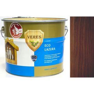 """Фото 21 - Пропитка Верес """"Эко Лазура"""" №3 Тик, для древесины [Шелковисто-матовая]-[уп. 6 шт по 0,75 л ] """"Veres""""."""