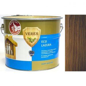 """Фото 23 - Пропитка Верес """"Эко Лазура"""" №4 Орех, для древесины [Шелковисто-матовая]-[уп. 4 шт по 2,5 л] """"Veres""""."""