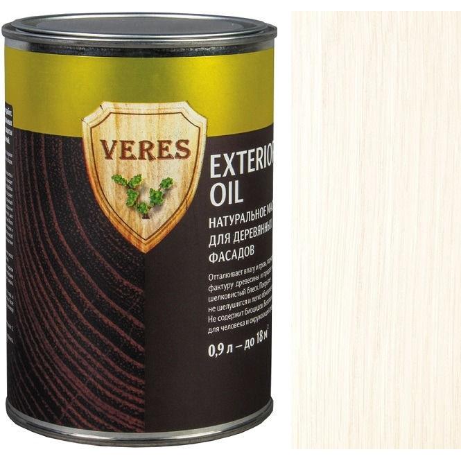 """Фото 18 - Масло Верес """"Ойл Экстерьер"""" №12 Белое, для деревянных фасадов [Полуматовое]-[уп. 6 шт по 0,9 л ] """"Veres""""."""