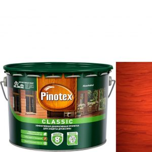 """Фото 13 - Антисептик """"Pinotex Classic"""" Красное дерево, полуматовая пропитка для защиты древесины  (2,7 л) """"Пинотекс""""."""
