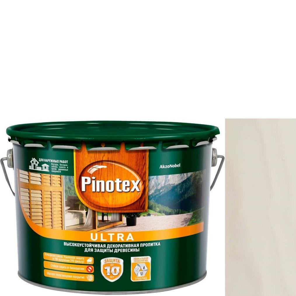 """Фото 1 - Антисептик """"Pinotex Ultra AWB"""" Белый, полуглянцевая пропитка для защиты древесины  (2,7 л) """"Пинотекс""""."""