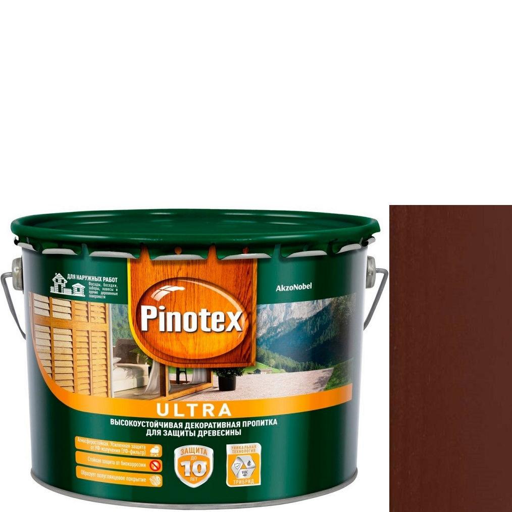 "Фото 11 - Антисептик ""Pinotex Ultra AWB"" Палисандр, полуглянцевая пропитка для защиты древесины  (2,7 л) ""Пинотекс""."