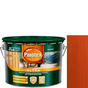 "Фото 13 - Антисептик ""Pinotex Ultra AWB"" Рябина, полуглянцевая пропитка для защиты древесины  (2,7 л) ""Пинотекс""."