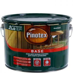 """Фото 2 - Грунтовка-Антисептик """"База Pinotex"""" (Base) матовая для защиты древесины  (2,7 л) """"Пинотекс""""."""