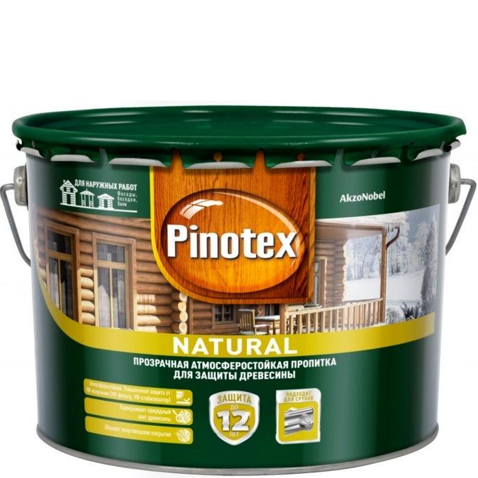 """Фото 1 - Пропитка """"Pinotex Natural"""" полуматовая прозрачная для защиты древесины  (2,7 л) """"Пинотекс""""."""