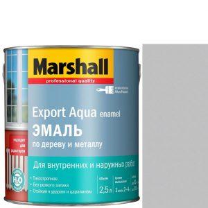 """Фото 7 - Эмаль """"Marshall"""" Эксперт Аква (Export Aqua) Светло-Серая, акриловая полуматовая (2,5 л) """"Маршал""""."""