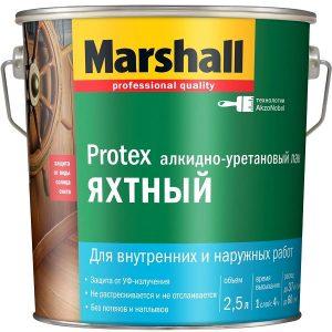 """Фото 4 - Лак """"Marshall"""" Протекс Яхтный (Protex) прозрачный алкидно-уретановый универсальный  - (9 л) """"Маршал"""" глянцевый."""