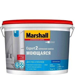 "Фото 11 - Краска ""Marshall"" Експорт 2 (Export 2) латексная глубокоматовая для стен и потолков  - база BW ( 9 л) ""Маршал""."