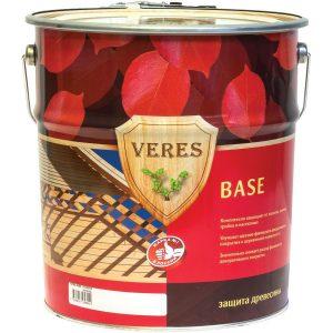 """Фото 4 - Грунтовочный состав Верес """"База"""" биозащитный для древесины [Бесцветный]-[уп. 6 шт по 0,9 л ] """"Veres""""."""