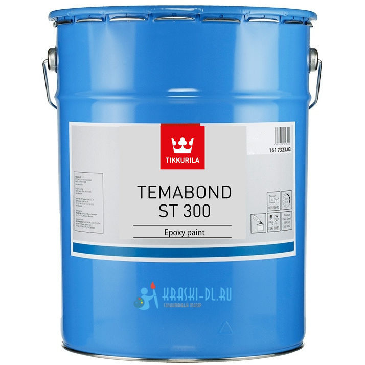 "Фото 2 - Краска Тиккурила Индастриал ""Темабонд СТ 300"" (Temabond ST 300) эпоксидная глянцевая 2К (9л) База TCH ""Tikkurila Industrial""."