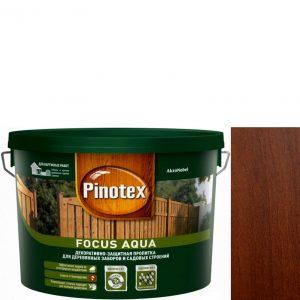 """Фото 7 - Пропитка """"Pinotex Focus Aqua"""" Орех, полуматовая для защиты древесины  (5 л) """"Пинотекс""""."""