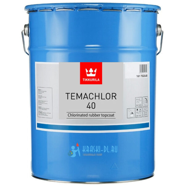 """Фото 1 - Краска Тиккурила Индастриал """"Темахлор 40""""(Temachlor 40) на хлорокаучуковой основе полуглянцевая 1К (18л) База TVH """"Tikkurila Industrial""""."""