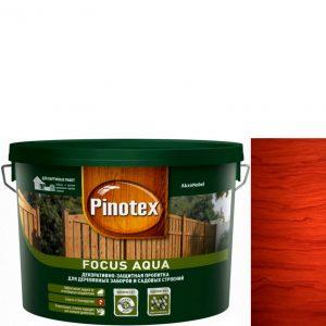 """Фото 5 - Пропитка """"Pinotex Focus Aqua"""" Красное дерево, полуматовая для защиты древесины  (5 л) """"Пинотекс""""."""