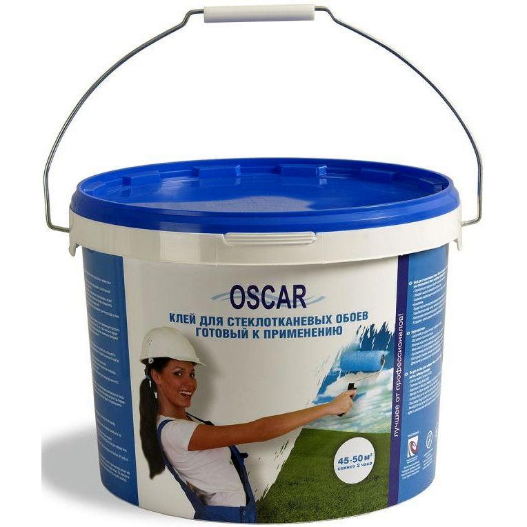 Фото 4 - Клей Оскар для стеклотканевых обоев, готовый к применению 10 кг (расход  на 45-50 кв.м) Oscar.