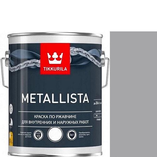 """Фото 1 - Краска Тиккурила """"Металлиста"""" (Metallista) Серая гладкая, по ржавчине для металла  (Серый) (уп. 6 шт по 2.5л) """"Tikkurila""""."""