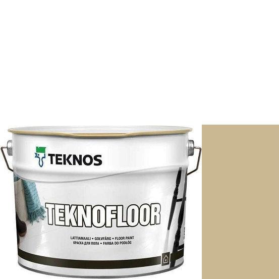 """Фото 1 - Краска Текнос """"Текнофлор"""" Т4002 (Teknofloor) уретано-алкидная глянцевая однокомпонентная для пола (2.7 л) """"Teknos""""."""