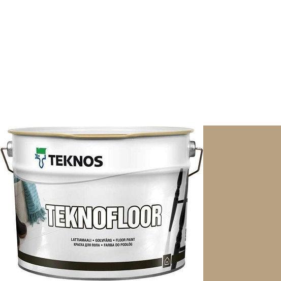 """Фото 1 - Краска Текнос """"Текнофлор"""" Т4003 (Teknofloor) уретано-алкидная глянцевая однокомпонентная для пола (2.7 л) """"Teknos""""."""