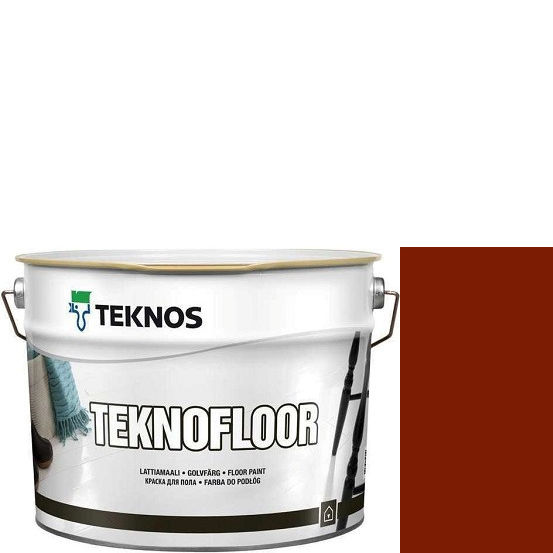 """Фото 1 - Краска Текнос """"Текнофлор"""" Т4008 (Teknofloor) уретано-алкидная глянцевая однокомпонентная для пола (9 л) """"Teknos""""."""