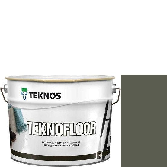 """Фото 1 - Краска Текнос """"Текнофлор"""" Т4022 (Teknofloor) уретано-алкидная глянцевая однокомпонентная для пола (9 л) """"Teknos""""."""