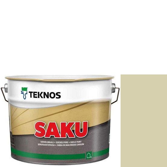 """Фото 1 - Краска Текнос фасадная """"Цаку"""" Т7002 (Saku) дисперсионная матовая для бетонных поверхностей (2.7 л) """"Teknos""""."""