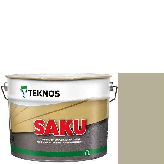 """Фото 1 - Краска Текнос фасадная """"Цаку"""" Т7003 (Saku) дисперсионная матовая для бетонных поверхностей (9 л) """"Teknos""""."""